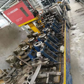 二手装饰管焊管机组 高效率制管机械设备 80直缝高频焊管机组焊管制造