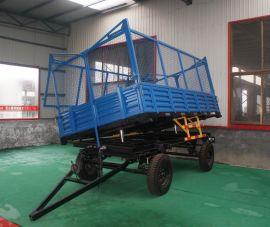 5吨农用拖车,液压自卸,拖拉机牵引,网状栏板方便运输青储等泡货