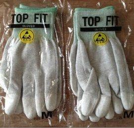 TOP FIT GLOVES碳纤维防静电PU涂指手套Anti-static ESD手套