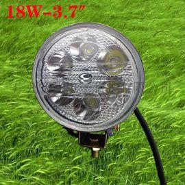 18W工作灯 圆形足瓦LED工作灯 摩托车汽车照明射灯 LED检修灯