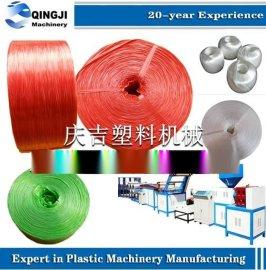 莱州庆吉机械-塑料圆丝拉丝机,塑料扁丝拉丝机