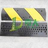 供应黄黑斜纹减速带 点状出口专用减速带 广州橡胶减速带