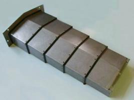 山东庆云奥兰机床附件制造有限公司生产钢板导轨防护罩