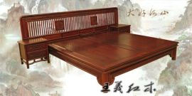 红木实木床好,纯手工中式古典家具,