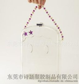 专业开发生产 高透明塑料手提盒 发饰化妆品包装专用 款式多样