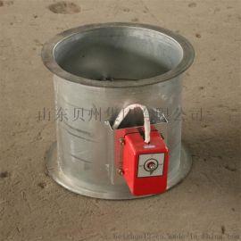 70度圆形防火阀 电动风量调节阀 不锈钢风阀