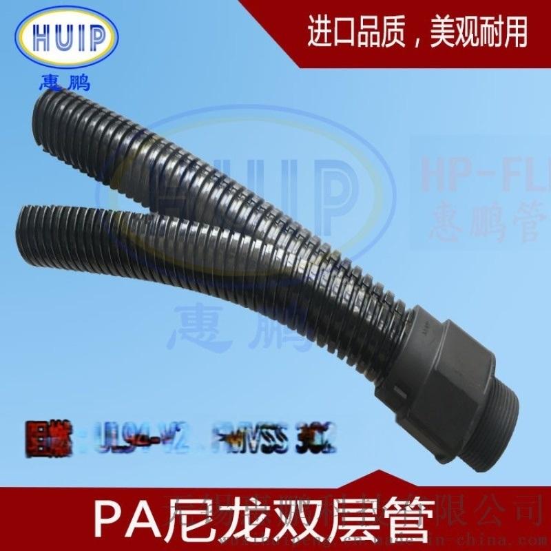 电厂维修  进口双层尼龙波纹管可开式双拼管