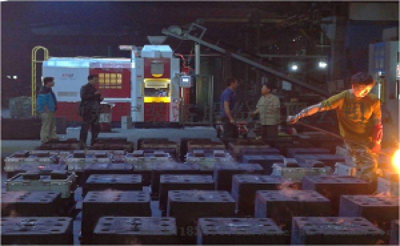 水平无箱全自动造型机替代手工铸造