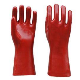 山东顺兴劳保用品直销 PVC手套 浸塑手套 红色光面耐油防酸碱35cm