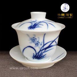 陶瓷盖碗_白瓷陶瓷盖碗_陶瓷盖碗茶具批发