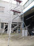 鋁合金腳手架搭建人字梯建築工地橫爬梯活動爬梯