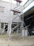 铝合金脚手架搭建人字梯建筑工地横爬梯活动爬梯
