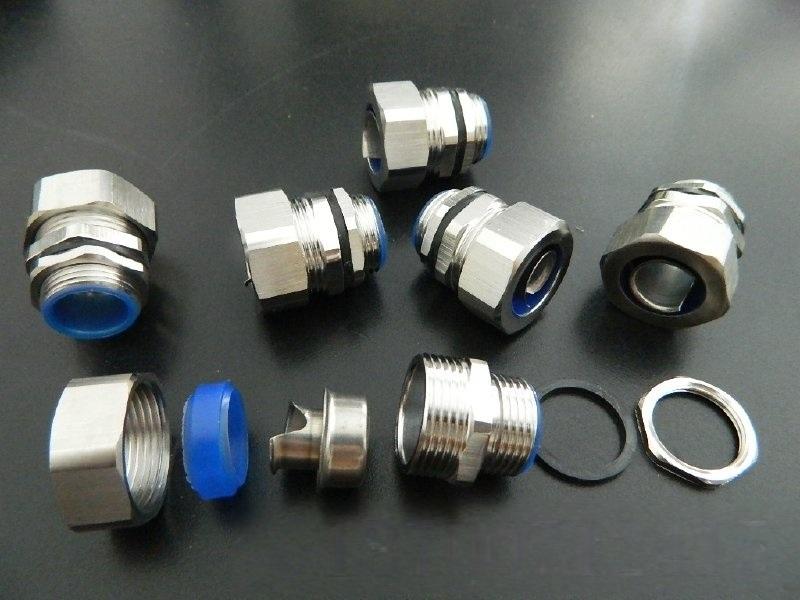 304不锈钢电缆管接头 LTCM-S型防水密封固定头公制螺纹端接头