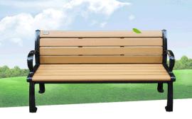 批发公园椅户外休闲椅 铸铁木塑长条排椅 小区休息椅