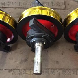 直径700*160车轮组 主动被动车轮轴车轮组 **60号锻钢行吊车轮组 整体淬火调质