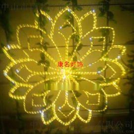 金色LED雪花造型灯 户外景观灯 圣诞灯雪花过街灯
