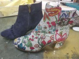 來圖樣定做女短靴,定制女短靴,加工女短靴