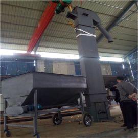 带爬梯碳钢瓦斗提料输送机 斗式垂直粉料提升机