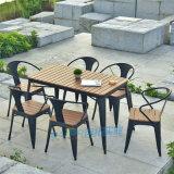 塑木户外室外花园庭院咖啡厅现代简约塑木桌椅组合
