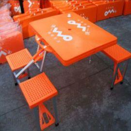 橙色新料折疊桌塑料便攜折疊桌可印廣告