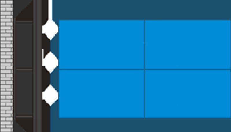 液晶拼接屏支架(壁掛款) 支持安裝
