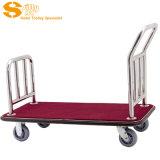 不锈钢行李车,大堂手推行李车,酒店行李车