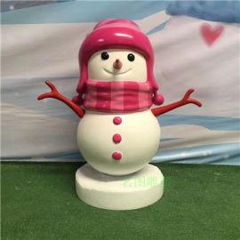 聖誕主題玻璃鋼雪人雕塑、佛山創意玻璃鋼卡通雪人雕塑