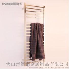 多杆方管电热毛巾架恒温浴巾架工程酒店配套电热毛巾架