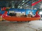 出售杭州商场室内船餐厅特色龙头木质餐饮船
