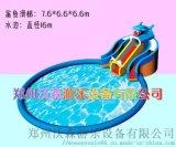 充氣水上樂園定做,牡丹江廣場鯊魚水滑梯吸客無數