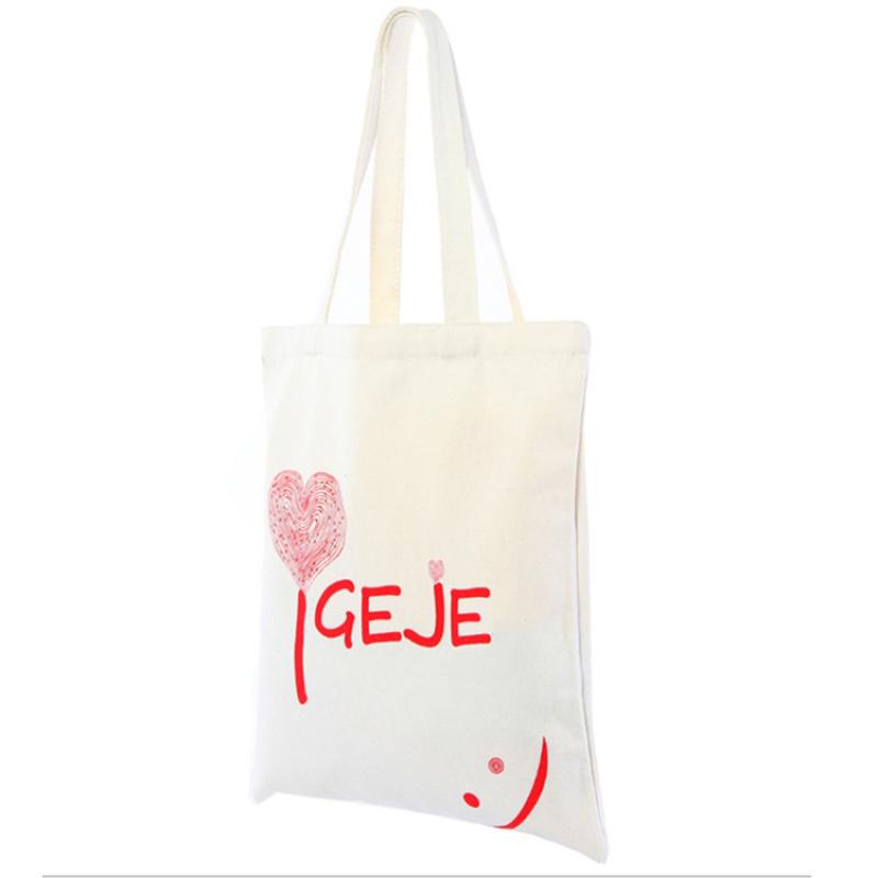 厂家定制创意卡通手提袋棉布 女生培训班手提文具包