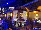 6-8人网红木船餐厅商场室内桂满陇餐饮船厂家直销