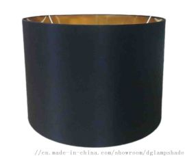 外黑色布料内金纸圆鼓形灯罩制造商东莞