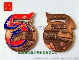 定制馬拉鬆獎牌 鋅合金材料電鍍仿古銅跑步紀念章制作