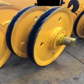16吨国标起重滑轮组 省力滑轮片双梁铸钢定滑轮组