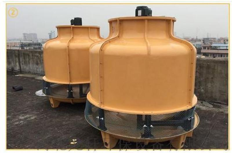龍軒供應節能超低噪音圓形逆流式玻璃鋼冷卻塔