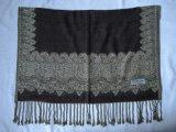 提花仿羊絨圍巾(披肩)-3