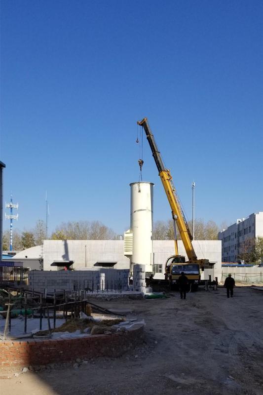 自立式钢制双层烟囱,自立式钢制双层烟囱价格,安装热力用自立式钢制双层烟囱