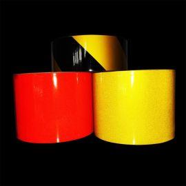 厂家直销10cm反光警示胶带道路标牌3100S双色斜纹广告级反光膜