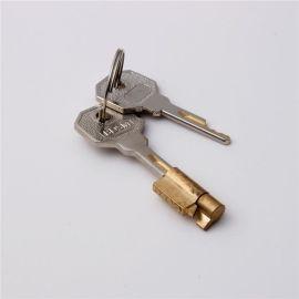 冰箱锁 定制铜钥匙机械加工冰箱锁 来图来样温州锁具配件厂家
