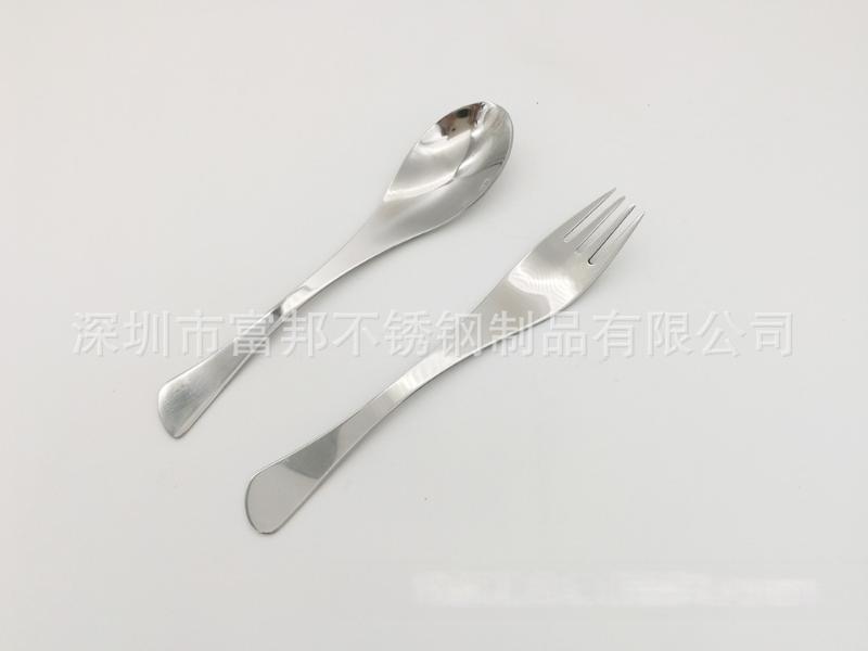 不锈钢勺子叉子不锈钢调羹小汤匙吃饭成人汤勺点心叉水果叉