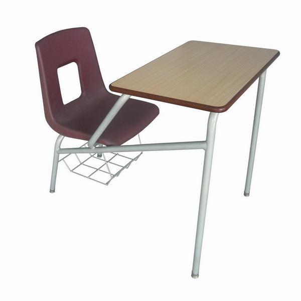 单人连体课桌椅工厂直销