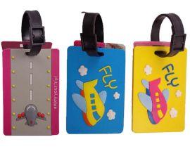 长期供应滴胶卡通行李牌 塑料行李牌 箱包配件吊牌 精美标牌订制