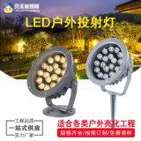 LED投光燈牆體照明燈RGB投射燈七彩18泛光燈