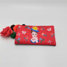 PU皮化妆品收纳包洗漱便携式收纳包双拉链大容量包