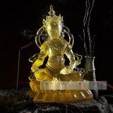 古法琉璃佛像,專業生產琉璃佛像,琉璃綠度母