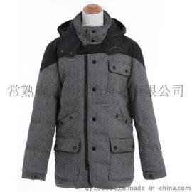 隆冬行羽绒服1162 羊毛呢面料**男款冬装防寒服**库存尾货 奢华**羽绒大衣北京服装批发市场