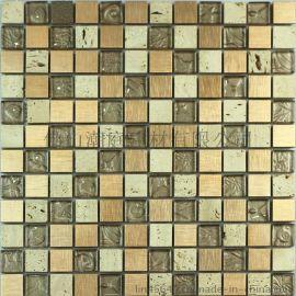 石材马赛克 金属搭配石材马赛克 大理石马赛克