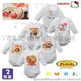 外贸原单面包超人anpanman婴幼儿纯棉内衣爬服 哈衣两件套