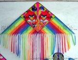 濰坊現代三角風箏 卡通系列風箏 多尾彩帶特色工藝品中國風 禮品